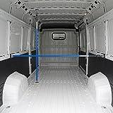 ALLEGRA Ladungssicherung und Transportsicherung für PKW LKW Anhänger und Transporter, Klemmstange Spannstange für die Tür, Ladesicherung für Auto Ausziehbar (1,00m - 1,75m, Blau)